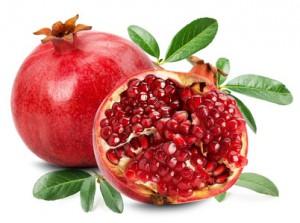 pomegranate isolated on the white background.